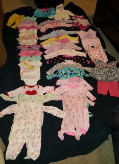 Baby girl clothes 3 -6 months, 40 pc lot