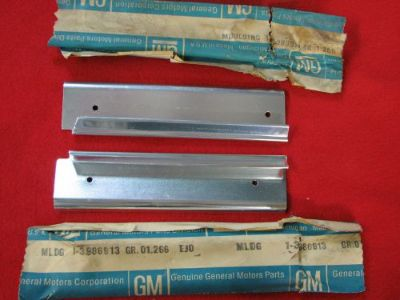 Sell NOS 71 IMPALA BELAIR CAPRICE GRILLE EXTENSIONS PAIR GM CHEVY Convertible 454 motorcycle in Union Grove, Wisconsin, United States, for US $99.95