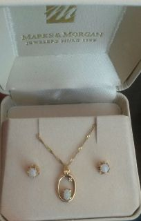 Opal earrings and necklace set