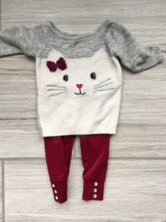 9 month kitty sweate & velvet pant