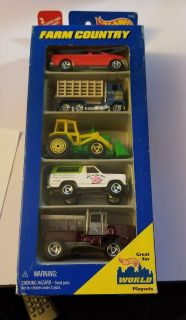 Hot Wheels 5 Pack Gift Set Farm Country with Chevy Blazer