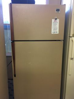 Whirlpool Brown 14 cf Refrigerator - USED