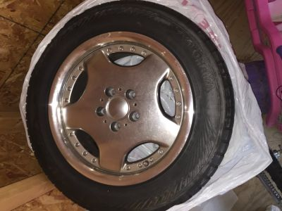 Set of Yokohama tires with rims 16 inch-read post before contacting