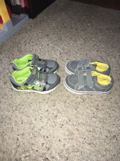 2 pairs of toddler size 8 shoes