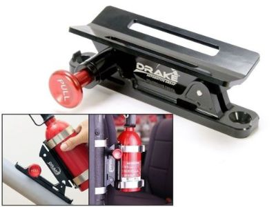 Buy Fire Extinguisher Mount BLACK Mustang and Classic Car Safety SCOTT DRAKE motorcycle in Vista, California, United States, for US $64.95