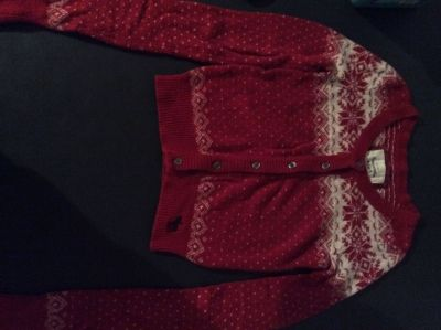 Ambercrombie Red Nordic Pattern Winter Sweater Size Small