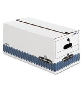 NEW-Bankers Box Store/File Medium-Duty Storage Boxes With String And Button, Letter, 4 Pack