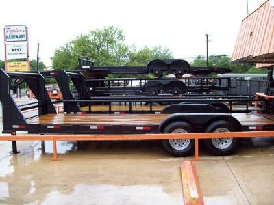 22ft CAR HAULER  FLATBED LOW BOY  7 K Axles, Brakes, Rs Unused