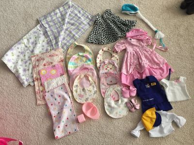 Baby doll clothes and accessories