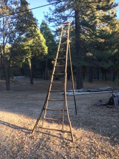 2 wooden orchard ladders