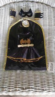 """Bat Girl Doll Outfit for up to 16"""" Dolls. Bat Girl Dress, Cape, Mask, & Arm Sleeves. New bought on line"""