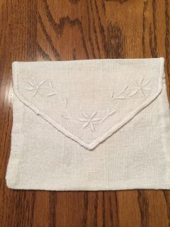 Vintage Embroidered Linen Diary/Prayer Book Cover