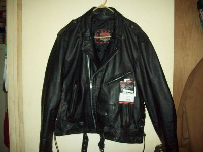 Leather Jacket-Mens-New