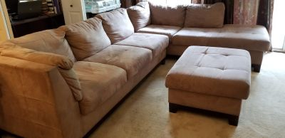 Large Sectional and Ottoman.