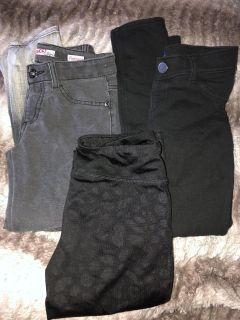 Girls size 8 jeggings and yoga pants $5 for all