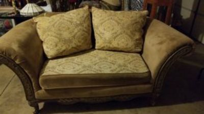 antiqueish love seat