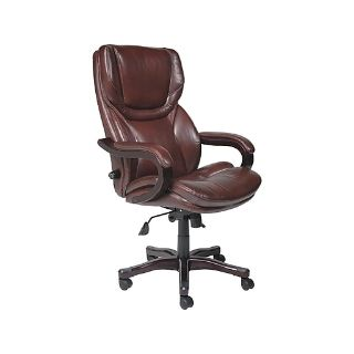 New Serta Bonded Leather Executive Big & Tall Chair, Rich Espresso