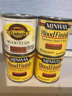 Four 1/2 Pint Cans of Stain