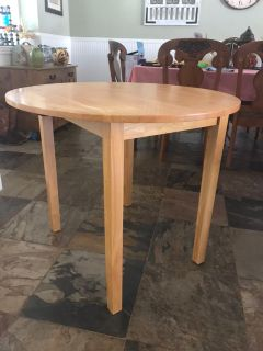 Small wood drop-leaf table