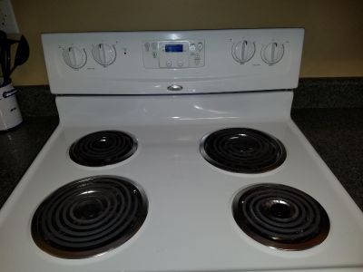 Whirlpool Stove and Microwave top