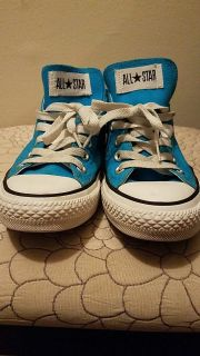 Blue colored All Star Converse Shoes size 8