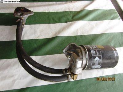 external oil filter set up