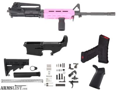 For Sale: 80% AR15 5.56 RIFLE BUILD KIT A2 SIGHT MAGPUL PINK MOE