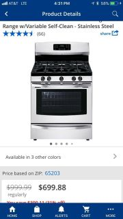 Kenmore Gas Freestanding Range with Connector
