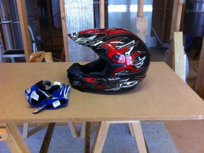 HJC dirt bike helmet- Large