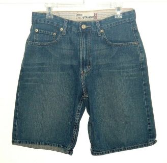 Levis 569 Loose Straight Denim Jean Shorts Mens Tag 30
