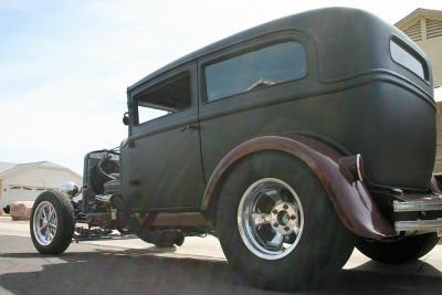 1929 Chevy chopped supercharged two door sedan May trade