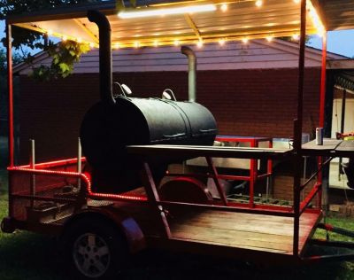 Competition style trailered smoker