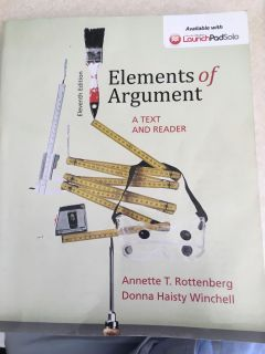 Elements of an argument textbook 11th edition.