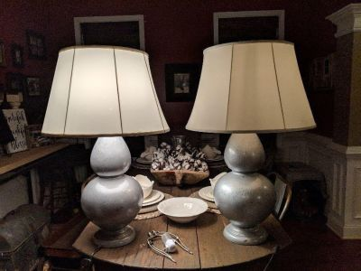 Pair of large lamps