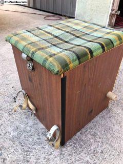Westfalia camp, buddy seat, storage box