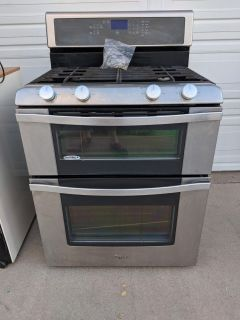 Whirlpool double oven stove