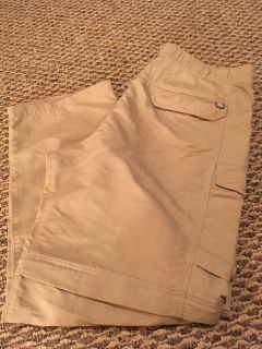 The North Face Mens Khaki Convertible Hiking Pants, Large!