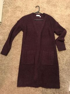 Long burgundy sweater paid $98. Worn once