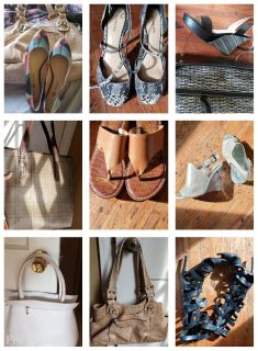 Used and new name brand shoes and bags