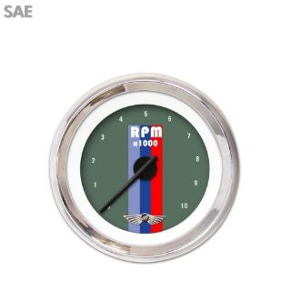 Purchase Tachometer Gauge with emblem - Vintage Autobahn Ash , Black Modern Needles motorcycle in Portland, Oregon, United States, for US $271.58