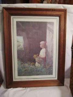 Barnyard Girl framed print