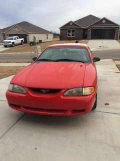 1995 Red Ford Mustang GT Convertible