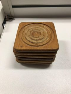 7 wooden coasters.