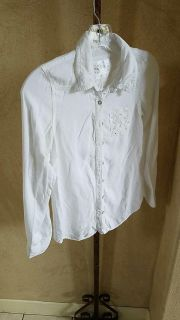 White shirt Justice sz. 10