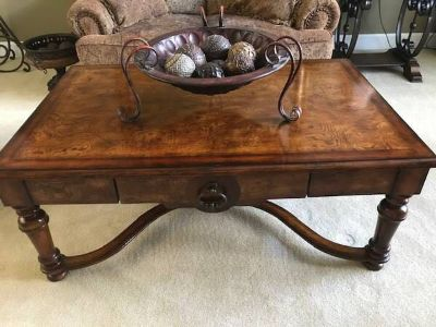 Large Ashley Cherry Wood Coffee Table