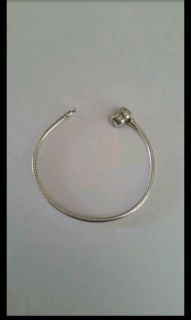 "Reflection Beads 7 1/2"" sterling silver bracelet. Fits Pandora beads. New, never worn"