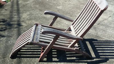 Outdoor Wood Lounge Chair