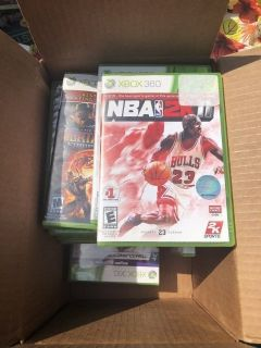 Whole box of Xbox 360 games