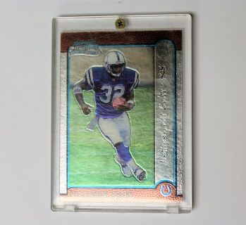 1999 Edgerrin James #32 Colts Bowman Chrome Rookie Football Card #161