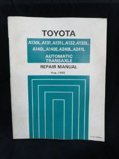 Sell 1985 * TOYOTA * AUTOMATIC TRANSAXLE * OEM * FACTORY DEALERSHIP * REPAIR MANUAL motorcycle in Baltimore, Maryland, United States, for US $39.50